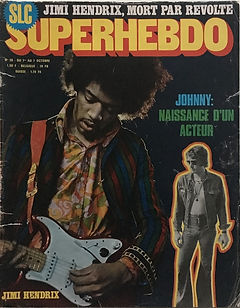jimi hendrix magazines 1970 death/ superhebdo : october 1, 1970