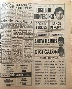 jimi hendrix collector newspapers/ 7/10/1967