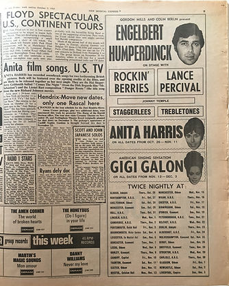 jimi hendrix collector newspapers/ 7/10/1967