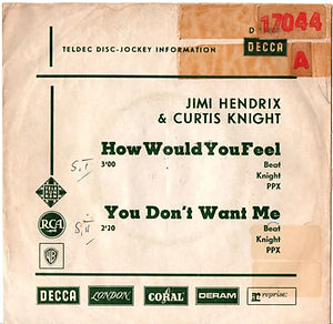 JIMI HENDRIX singles vinyls collector/how would you feel/you don't want me  1967 germany