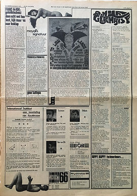 jimi hendrix collector newspapers/hit week N°6 1967 jimi hendrix in roterdam