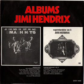 jimi hendrix rotily collector EP 45t singles vinyls/red house/purple haze/the wind cries mary maxi single holland 1973