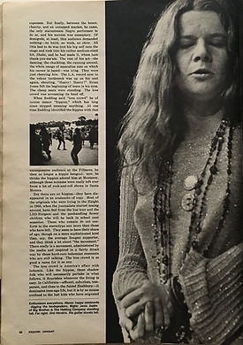 jimi hendrix magazine/esquire january 1968 /anatomy of a festival part2