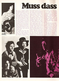 jimi hendrix magazine 1968 / pop december 1968