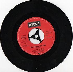 jimi hendrix collector singles vinyls/the ballad of jimi /decca germany