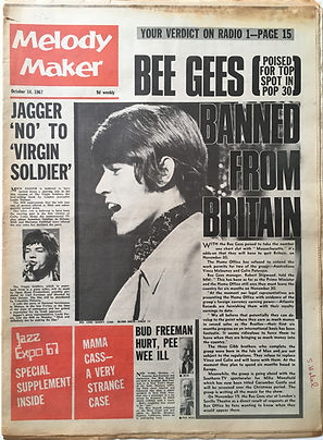 jimi hendrix collector newspapers/melody maker 14/10/1967
