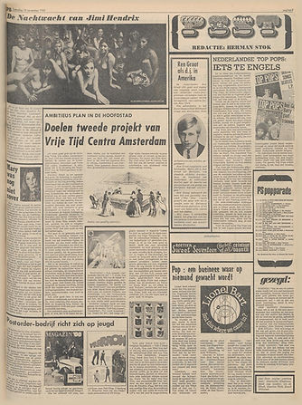 jimi hendrix newspapers 1968 / het parool november 16, 1968