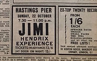 jimi hendrix collector/jimi hendrix experience hastings pier sunday 22 october 1967