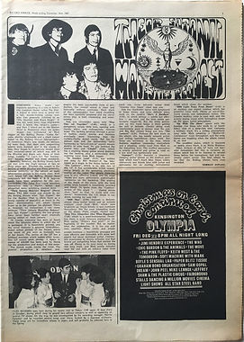 jimi hendrix newspaper collector/cristmas on earth continued 22/12/67