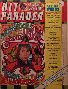 jimi hendrix magazine 1968 / hit parader  1968