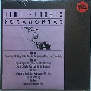 jimi hendrix vinyl bootleg albums/2lps pocahontas