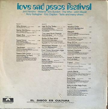 jimi hendrix box vinyls / love and peace festival 3lp venezuela 1971