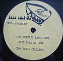 jimi hendrix collector vinyls LP albums/axis bold as love page full of hits/for radio caroline 1974