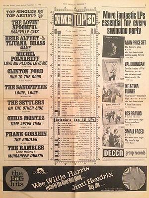 jimi hendrix newspaper/new musical express 24/12/66