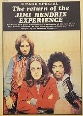 jimi hendrix collector newspaper/top pops newspaper/ january/1969 england