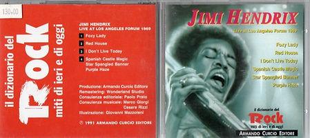 jimi hendrix cd bootleg 1969/ rock: live at los angeles forum 1969/italy 1991