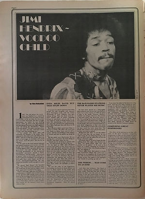 jimi hendrix newspapers 1970 / stange days october 9,1970 / voodoo child