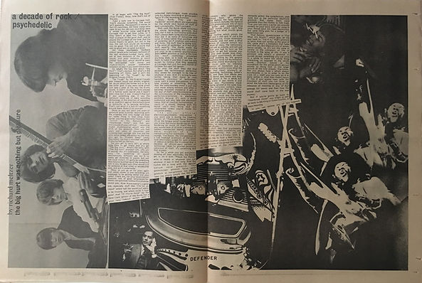 jimi hendrix newspapers 1970 /rock : jan.5, 1970 / a decade of rock : psychedelic