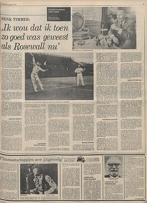 jimi hendrix newspaper 1970 / het parool / august 8, 1970