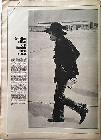 jimi hendrix magazine/l'europeo june 1968 italy