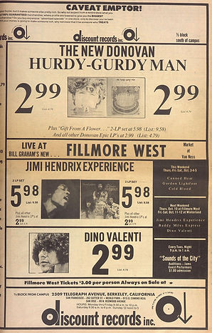 jimi hendrix newspaper/berkeley barb october 4-10 1968