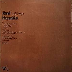 jimi hendrix lp vinyl album/ isle of wight