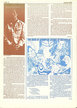 jimi hendrix newspaper 1969/the seed chicago  september 1 1969