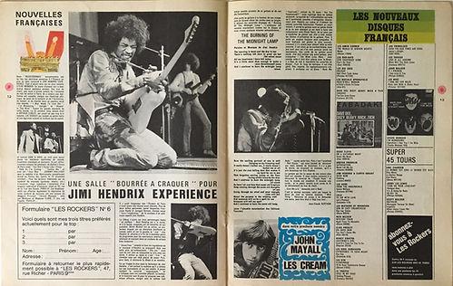 jimi hendrix collector magazine/les rockers 14/11/1967 une salle bourrée a craquer pour jimi hendrix experience