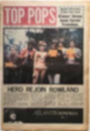 jimi hendrix newspape 1968/top pops 21 dec.- 3 jan 1969