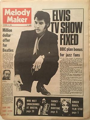 jimi hendrix newspapers 1969/melody maker dec.13, 1969