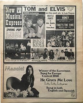 jimi hendrix newspapers/new musical express 20/4/1968