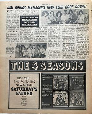 jimi hendrix newspaper/new musical express july 27 1968/majorca and jimi