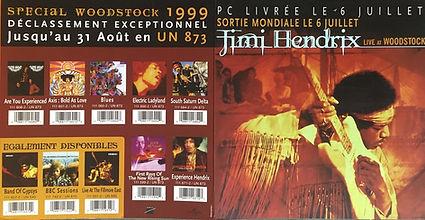 jimi hendrix family edition  memorabilia /booklet promotional /  live at woodstock