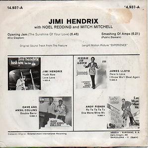 jimi hendrix singles vinyls/opening jam/smashing of amps 1971