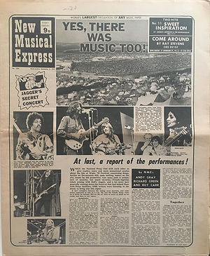 jimi hendrix newspaper 1970 / new musical express / september 5, 1970 / isle of wight festival