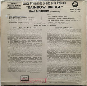 jimi hendrix vinyl lp album/rainbow bridge 1971 argentina