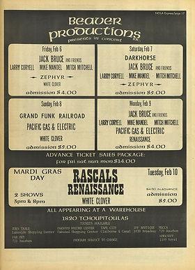 jimi hendrix newspaper 1970 / nola express feb. 6, 1970