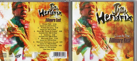jimi hendrix bootlegs cds 1969 / live at the fillmore east