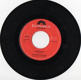 jimi hendrix collectr vinyls singles/side 2 purple haze / austria