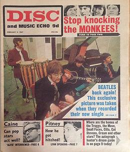 jimi hendrix newspaper/disc music echo 11/2/67