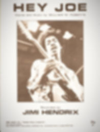 jimi hendrix memorabilia 1970 /  1970 /sheet music  1970 hey joe