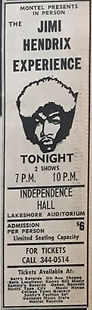 jimi hendrix AD concerts independence hall july 30 1968