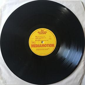 jimi hendrix vinyls album / side 1 / the jimi hendrix concerts mediamotion records