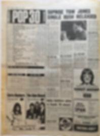 jimi hendrix newspaper/melody maker july 6 1968/top ten LPs: smash hits N°9