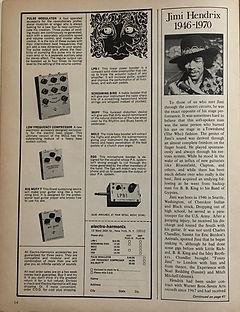 jimi hendrix magazines 1970 death/  guitar player : december 1970