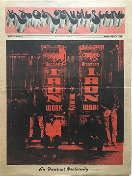 kxoa music scene august 26 1968 / jimi hendrix newspaper