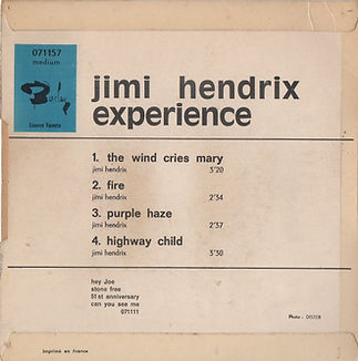 jimi hendrix rotily /EP the wind cry mary