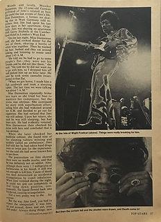 jimi hendrix magazines 1970 death/ top stars  teen idols 1970