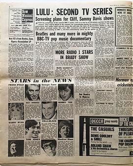 jimi hendrix newspaper/june 1 new musical express 1968