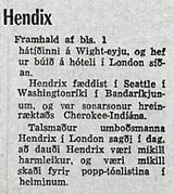 jimi hendrix newspapers 1970 / timinn  sept. 19, 1970